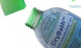 Новий гель для душу для миття без води