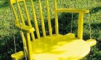 Оригінальні та корисні способи переробки старих стільців