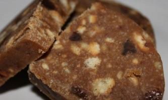 Тістечко ковбаска з печива - рецепт