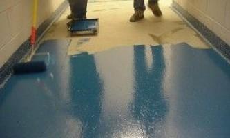 Фарбування бетонної підлоги