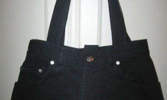 Пошиття сумки зі старих джинсів