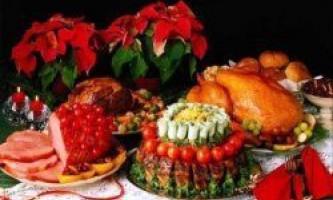 Святковий стіл на новий рік