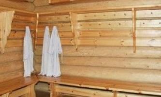 Роздягальня в лазні: особливості облаштування