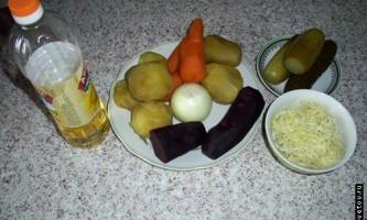 Рецепт приготування вінегрету