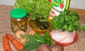 Рецепт салату грибна галявина