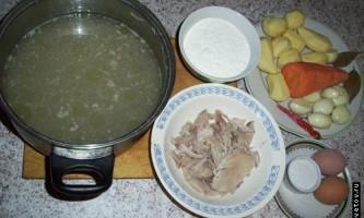 Рецепт супу з галушками