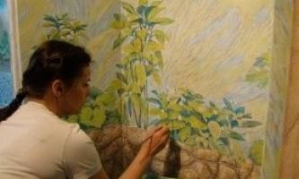 Розпис стін своїми руками