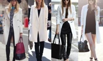 З чим носити біле пальто?