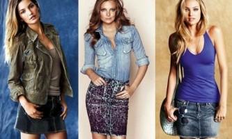 З чим носити довгі і короткі джинсові спідниці?