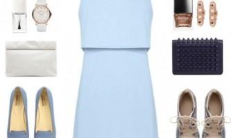 З чим носити блакитну сукню?