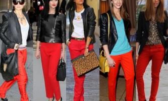З чим носити червоні штани?