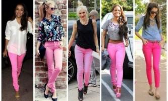 З чим носити рожеві штани?