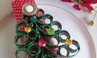 Серветки на новий рік: вироби та прикраси
