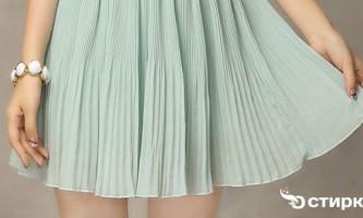 Секрети і тонкощі прання плісированою спідниці