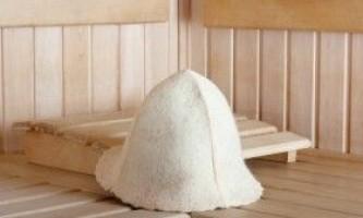 Шапка для лазні: виготовлення і валяння