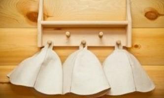 Шапка для лазні: призначення, види і особливості використання
