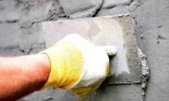Штукатурка стін цементним розчином