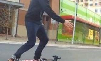 Скейтборд майбутнього, керований kinect і планшетом