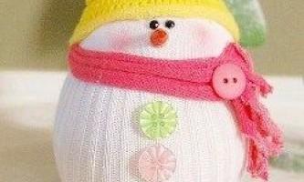Сніговик з носка своїми руками