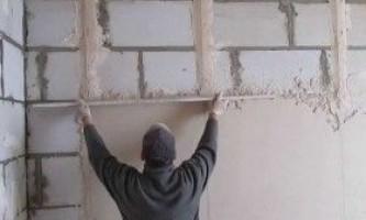 Стяжка стін: покрокова інструкція
