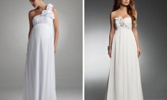 Весільні сукні для вагітних 2014