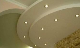 Світильники для стелі з гіпсокартону: види і монтаж