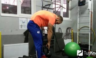 Техніка виконання тяги гирі з ями