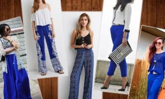 Темно-сині штани жіночі: з чим носити?