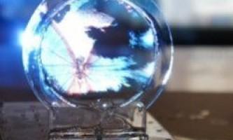 Тривимірний дисплей, розроблений з мильної бульбашки