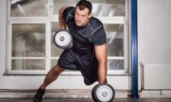 Тренування всіх м`язових груп з допомогою гантелей