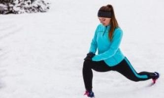 Тренування на свіжому повітрі в холодну погоду