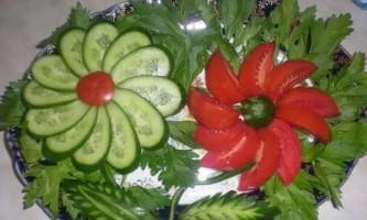 Прикраса салатів своїми руками