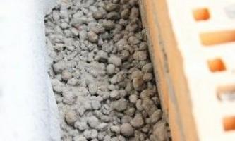Утеплення фундаменту керамзитом