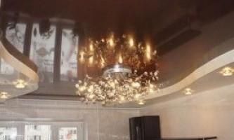 Види світильників в натяжні стелі